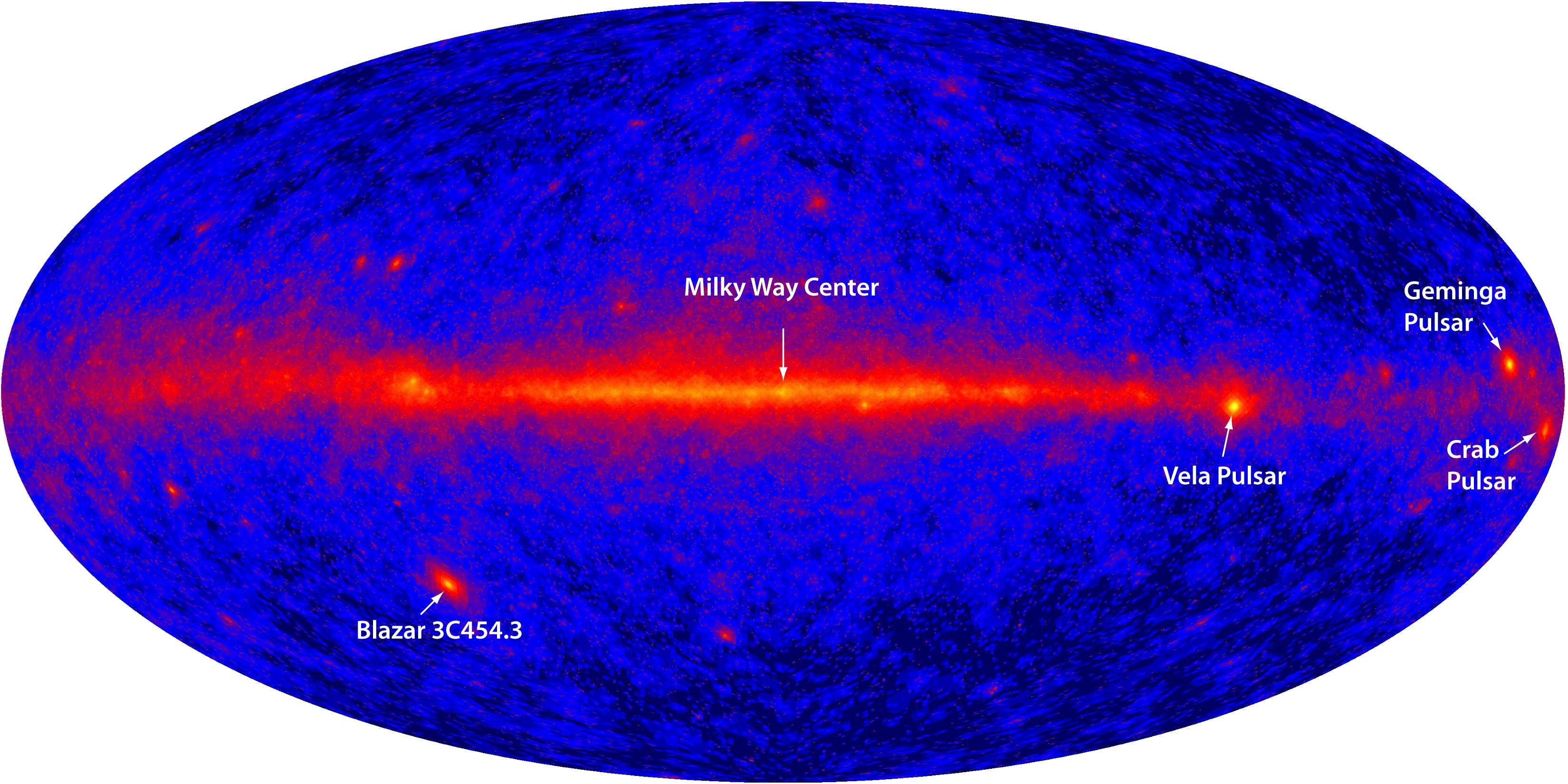Images gamma de l'Univers