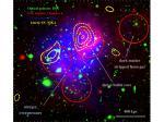 Des amas de galaxies qui entrent en collision