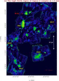 Surprenante population d'étoiles jeunes et massives dans la région du Cygne