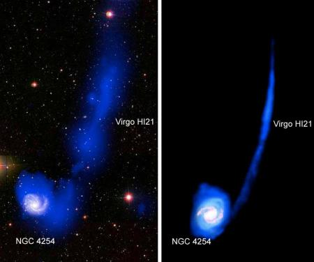 Existe-t-il des galaxies sans étoiles ?