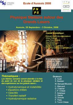 Physique stellaire autours des grands lasers