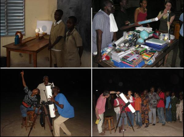 Le CEA-Astrophysique présent au Bénin pour l'Année Mondial 2009