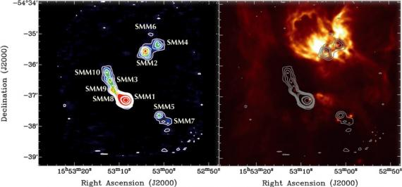 Naissance provoquée pour les étoiles massives