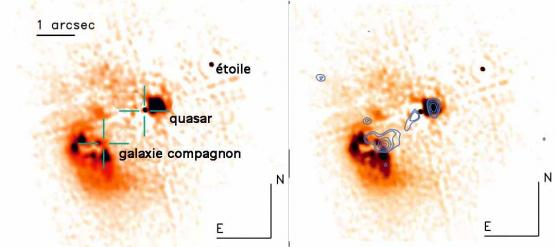 A 'naked' quasar caught in the act