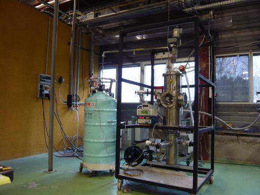 Test d'une future cible de réaction d'H2 pour SPIRAL2