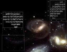 Galaxies en interaction et naines de marée