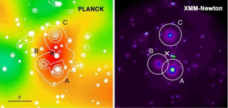 Planck découvre d'étonnants amas de galaxies