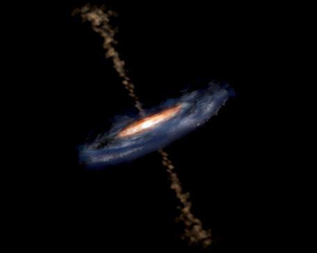 Comment nourrir les trous noirs géants ?
