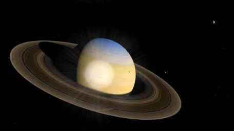 Le ballet des lunes de Saturne révèle l'intérieur de la planète