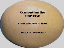 Le film « l'Univers recalculé » sélectionné à SuperComputing 2012