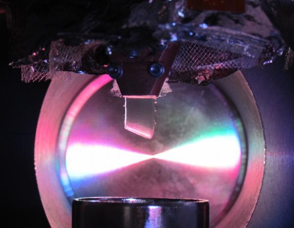La cible d'hydrogène solide pour le projet Chymène