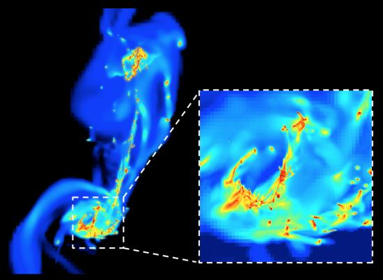 Naissance turbulente des étoiles dans le choc des galaxies