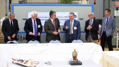 7 Juillet : signature de l'accord de R&D avec le CERN sur les aimants supraconducteurs pour le futur du LHC