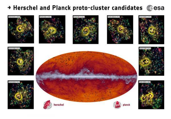 Une clé de la formation des amas de galaxies découverte par Herschel et Planck