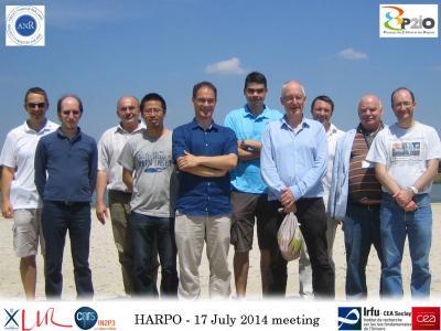 1ère campagne de données d'Harpo, un détecteur innovant pour l'astronomie gamma