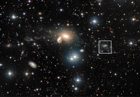 A strange cosmic collision