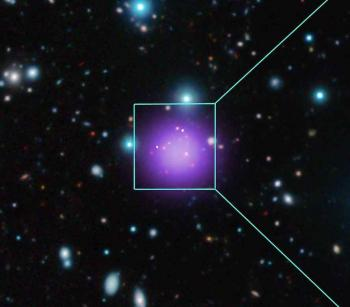 The most distant cluster of galaxies in the Universe