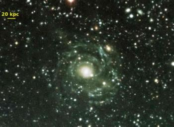 The largest galactic disk known in the universe