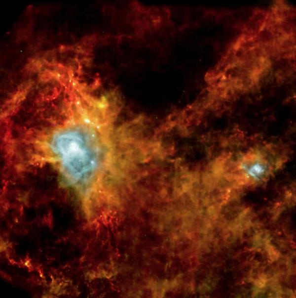 Les étoiles naissent dans des filaments denses