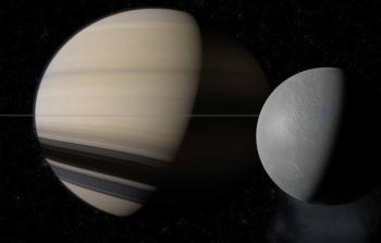 Saturne déformé par ses satellites