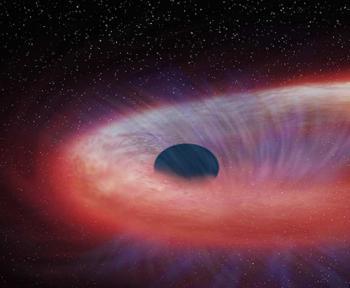 Un trou noir géant a dévoré une étoile en dix ans