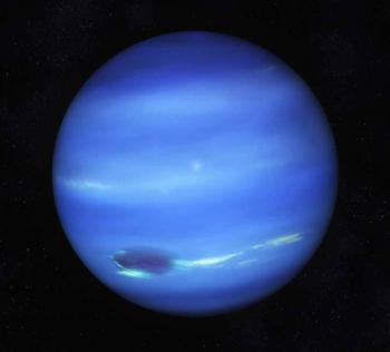 The oscillations of the Sun are reflected by the planet Neptune