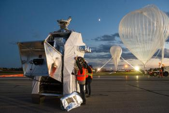 A 800 000 m3 balloon to pierce the dust of the Galaxy
