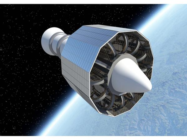 Space radiation superconducting shield