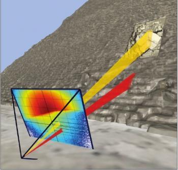 Découverte par la collaboration ScanPyramids d'une structure interne dans la pyramide de Kheops