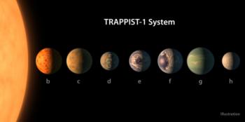Certaines des sept planètes de l'étoile Trappist-1 possiblement habitables