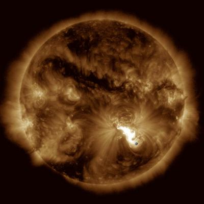 How to predict the energy of dangerous solar flares
