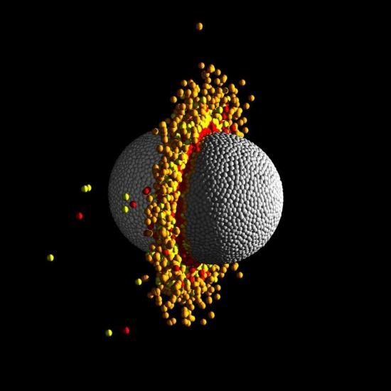 Collision géante dans le système planétaire Kepler 107