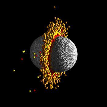 Giant crash in the planetary system Kepler-107