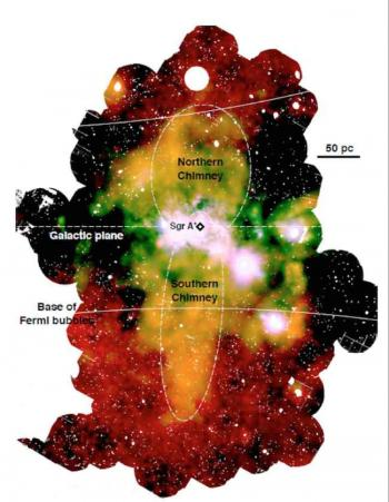 Smoke signals from the massive black hole of the Galaxy