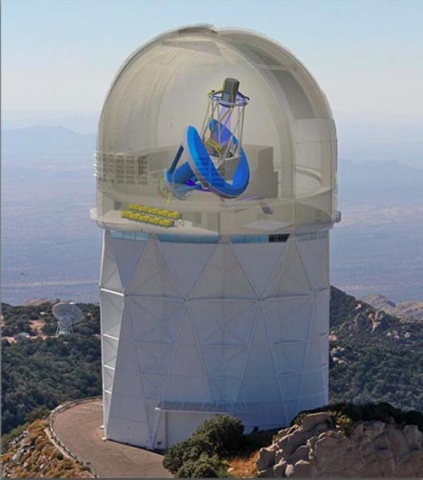 DESI s\'installe à Kitt Peak