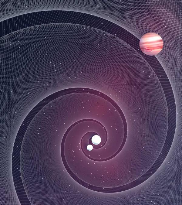 Les ondes gravitationnelles pour détecter les exoplanètes