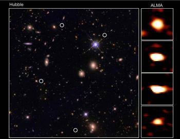 Discovery of an unsuspected abundance of distant massive galaxies