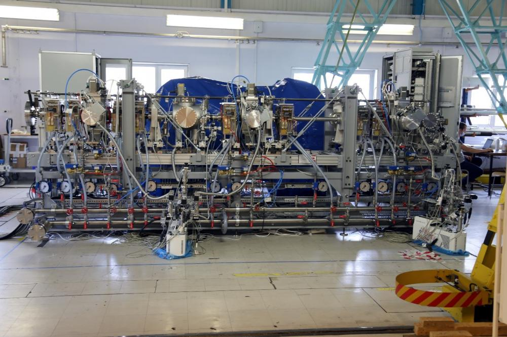 SARAF: Livraison de la ligne moyenne énergie, MEBT à SOREQ-Israël