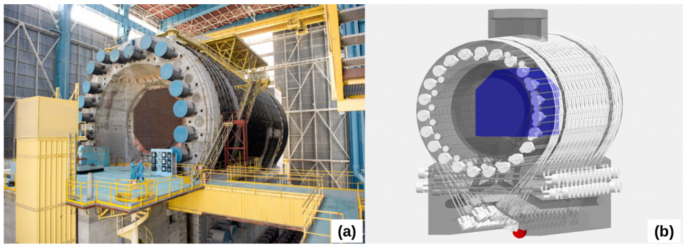 Muography is present at the heart of nuclear reactors