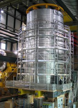 La bobine supraconductrice du d�tecteur CMS est compl�te