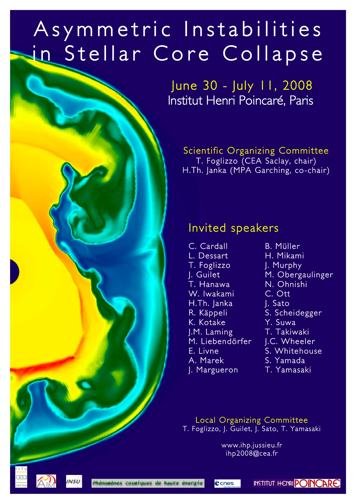 Workshop on the explosion of Core Collapse Supernovae