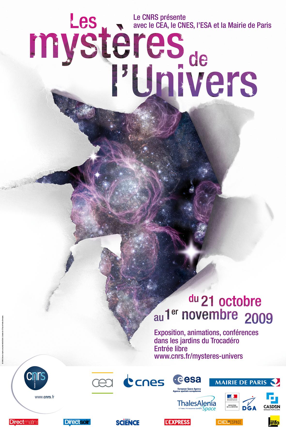 Les mystères de l'Univers  -  Exposition au Trocadéro