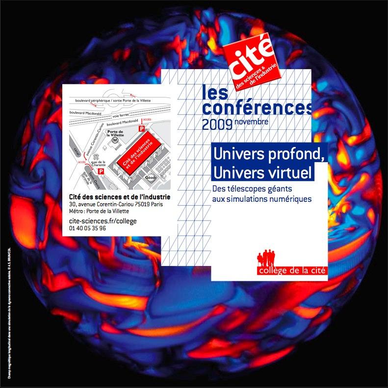 Univers profond, univers virtuel -  Jour de Science à la Cité des sciences