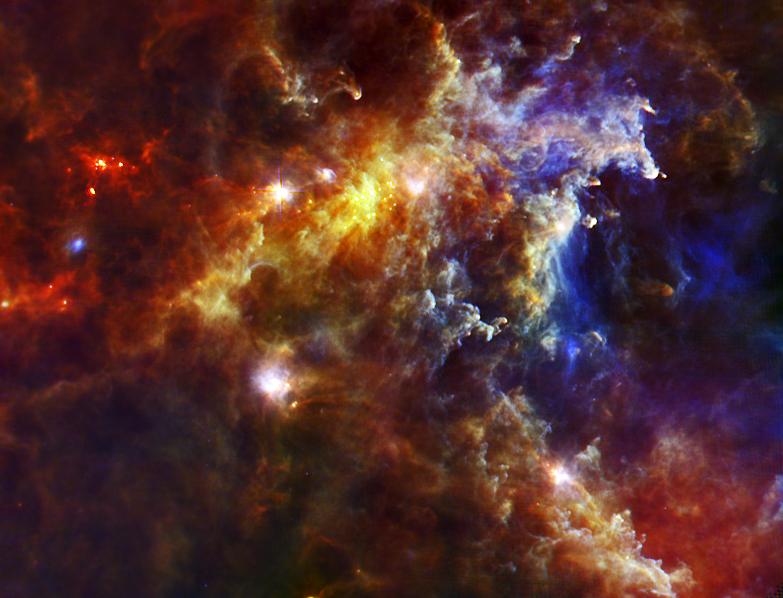 Des bébés étoiles naissent d'un nuage presque vide