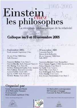 Colloque Einstein chez le Philosophes