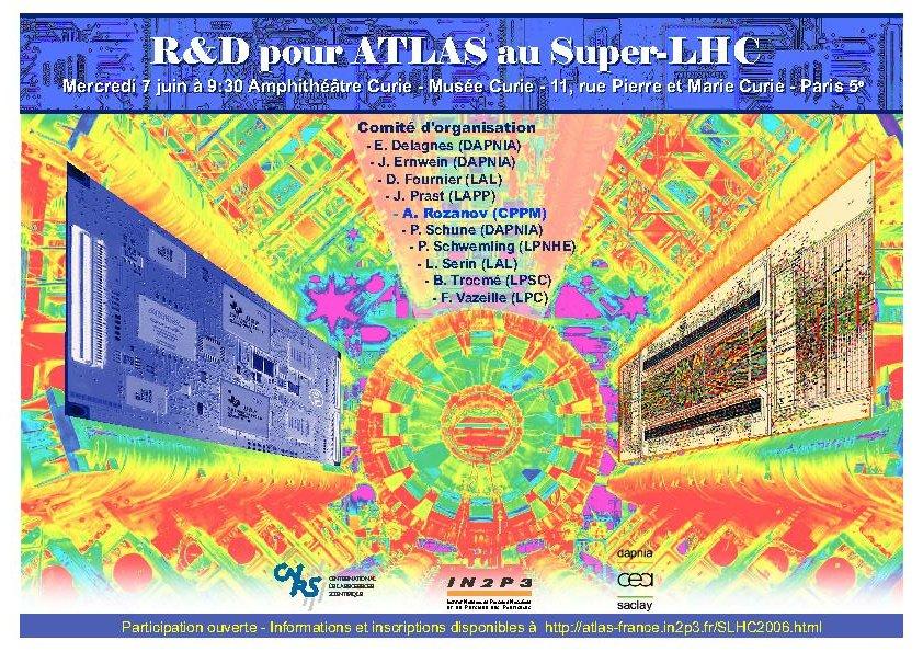 Annonce atelier R&D pour ATLAS au super-LHC