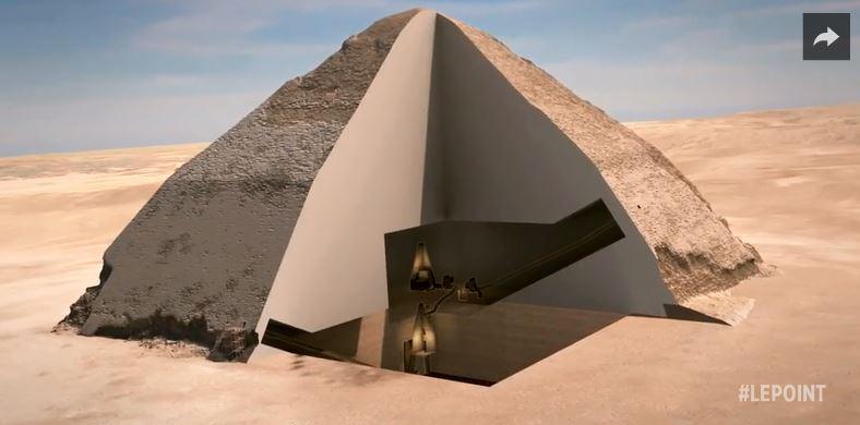 Voir l 39 int rieur des pyramides en temps r el avec des for Interieur pyramide